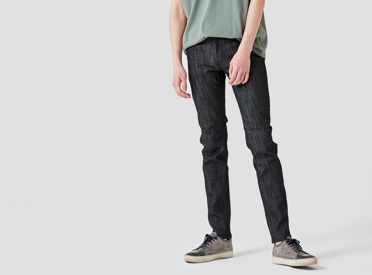 보놉 straight raw denim pants