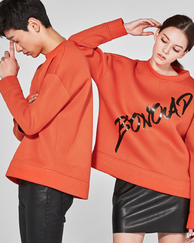 보놉 orange neoprene sweatshirt