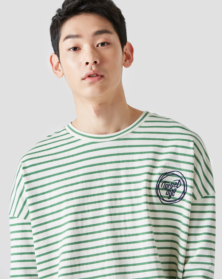 보놉 round stripe loosefit T-shirt